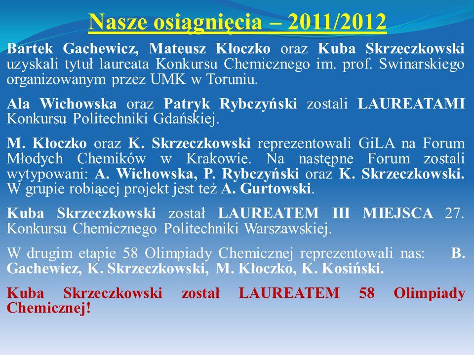 Nasze osiągnięcia – 2011/2012