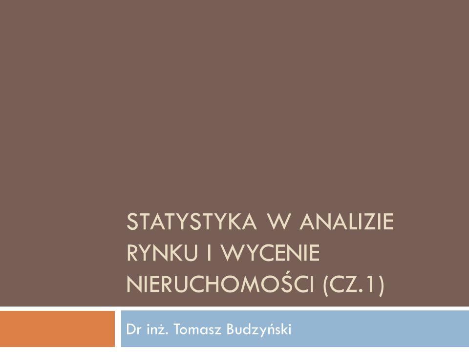Statystyka w analizie rynku i wycenie nieruchomości (cz.1)