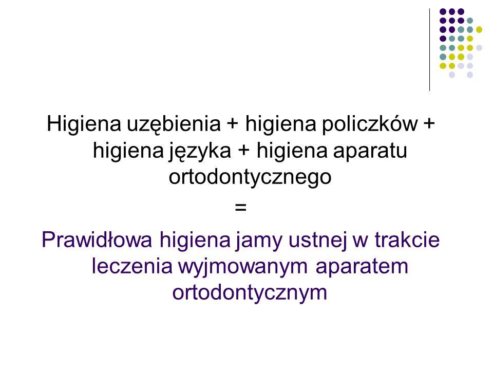 Higiena uzębienia + higiena policzków + higiena języka + higiena aparatu ortodontycznego