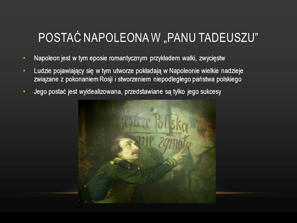 "Postać napoleona w ""panu tadeuszu"