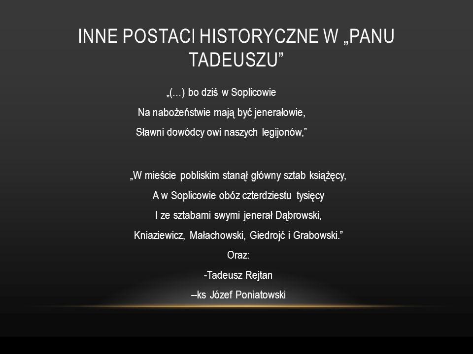 """Inne postaci historyczne w """"panu tadeuszu"""