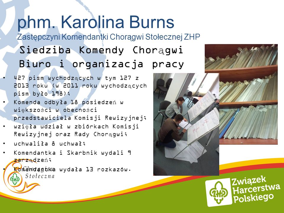 Siedziba Komendy Chorągwi Biuro i organizacja pracy