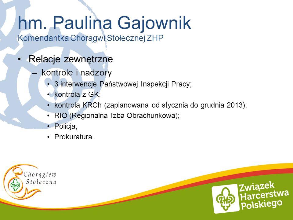 hm. Paulina Gajownik Komendantka Chorągwi Stołecznej ZHP