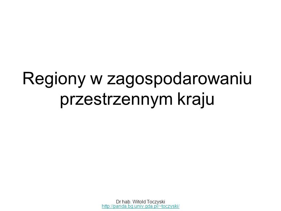 Regiony w zagospodarowaniu przestrzennym kraju