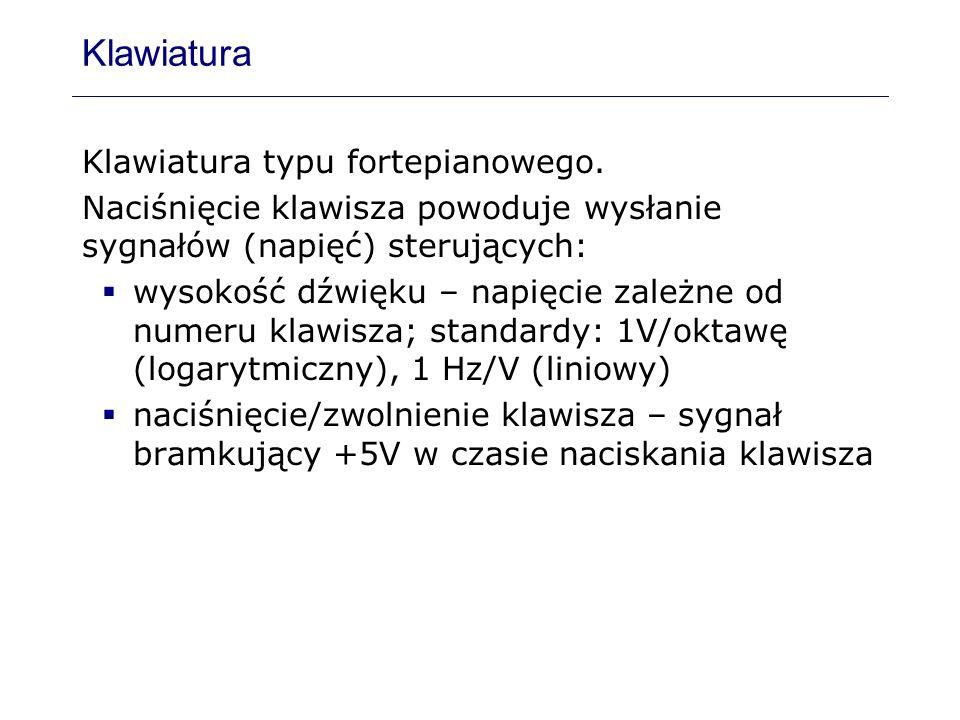 Klawiatura Klawiatura typu fortepianowego.