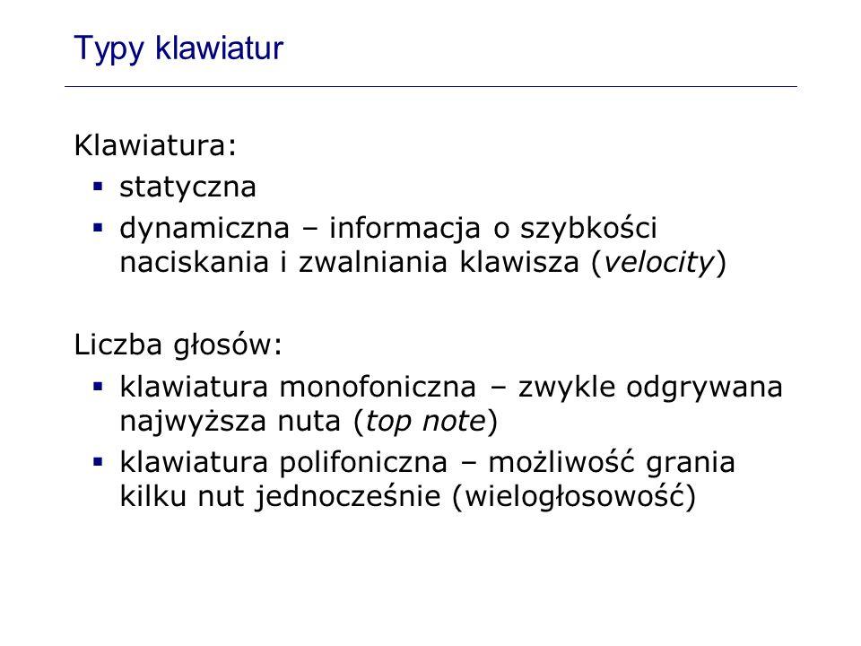 Typy klawiatur Klawiatura: statyczna
