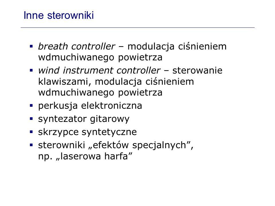 Inne sterownikibreath controller – modulacja ciśnieniem wdmuchiwanego powietrza.