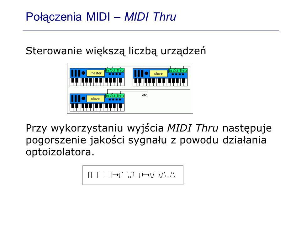 Połączenia MIDI – MIDI Thru