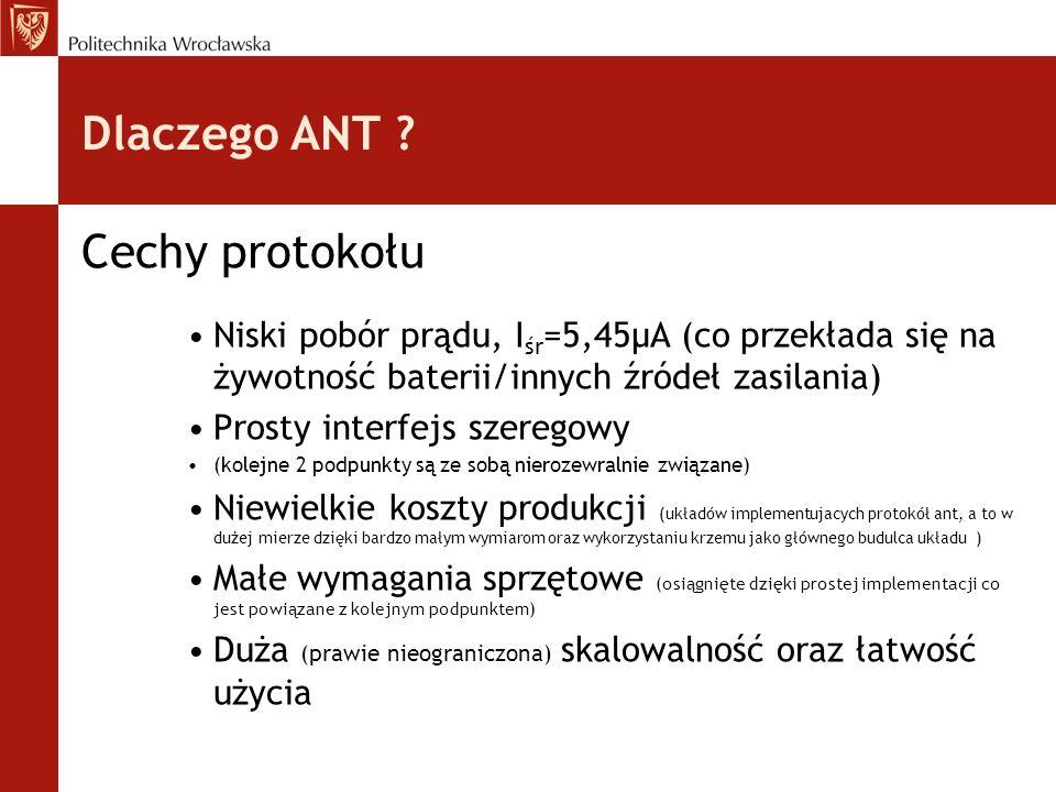 Dlaczego ANT Cechy protokołu