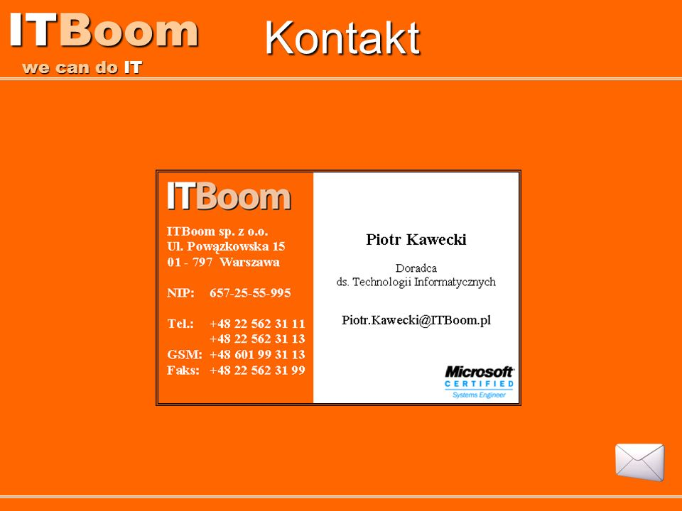 Kontakt ITBoom we can do IT