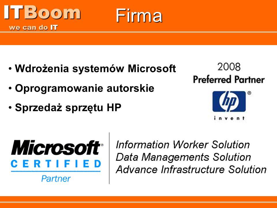 ITBoom we can do IT Firma Wdrożenia systemów Microsoft