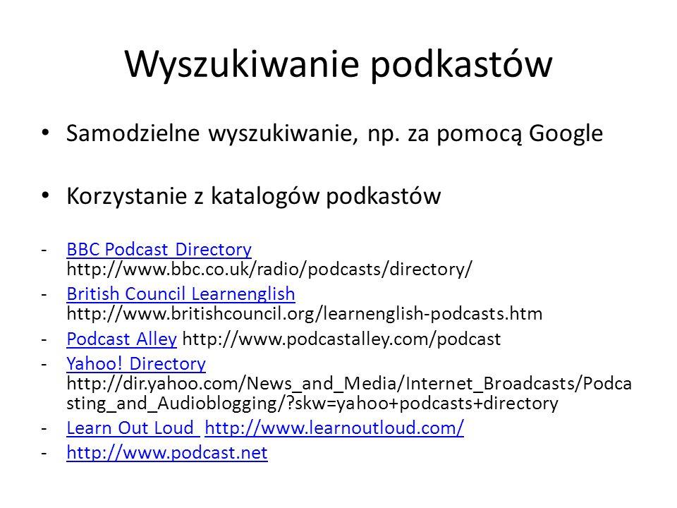Wyszukiwanie podkastów