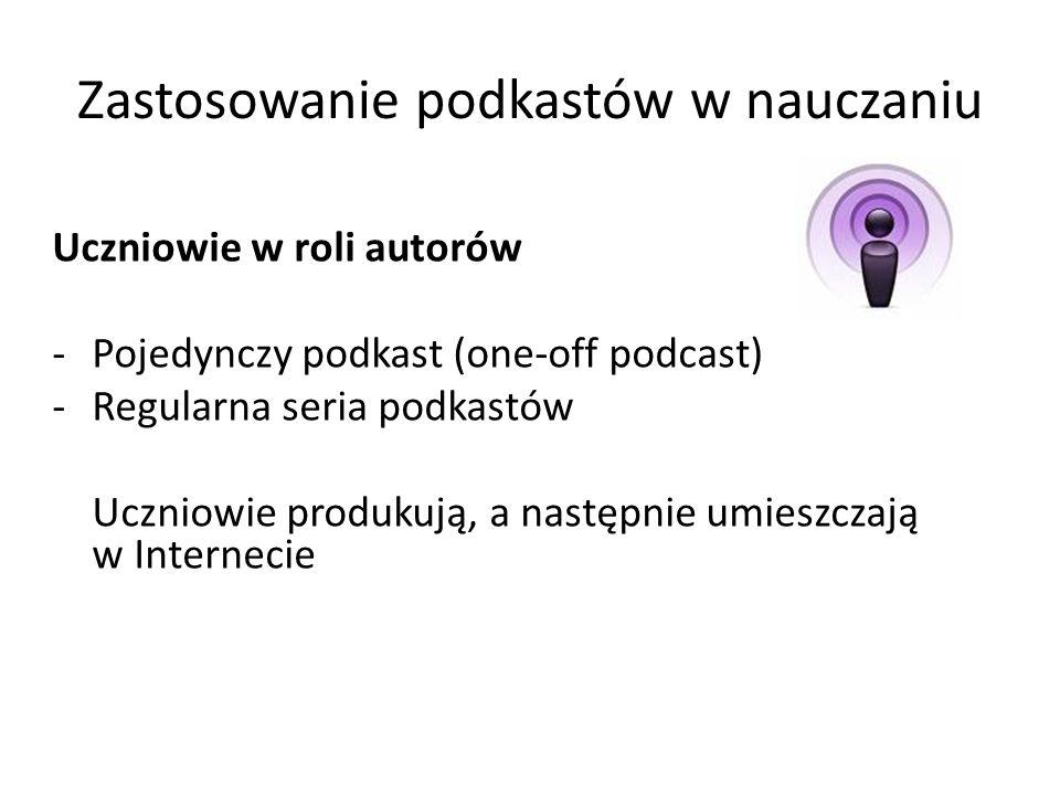 Zastosowanie podkastów w nauczaniu