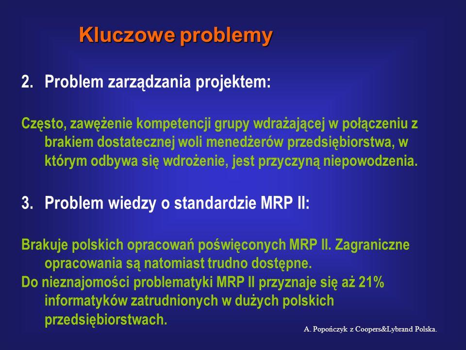 Kluczowe problemy 2. Problem zarządzania projektem: