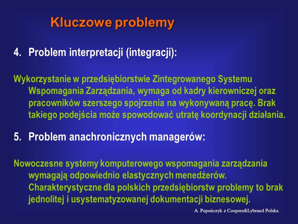 Kluczowe problemy 4. Problem interpretacji (integracji):