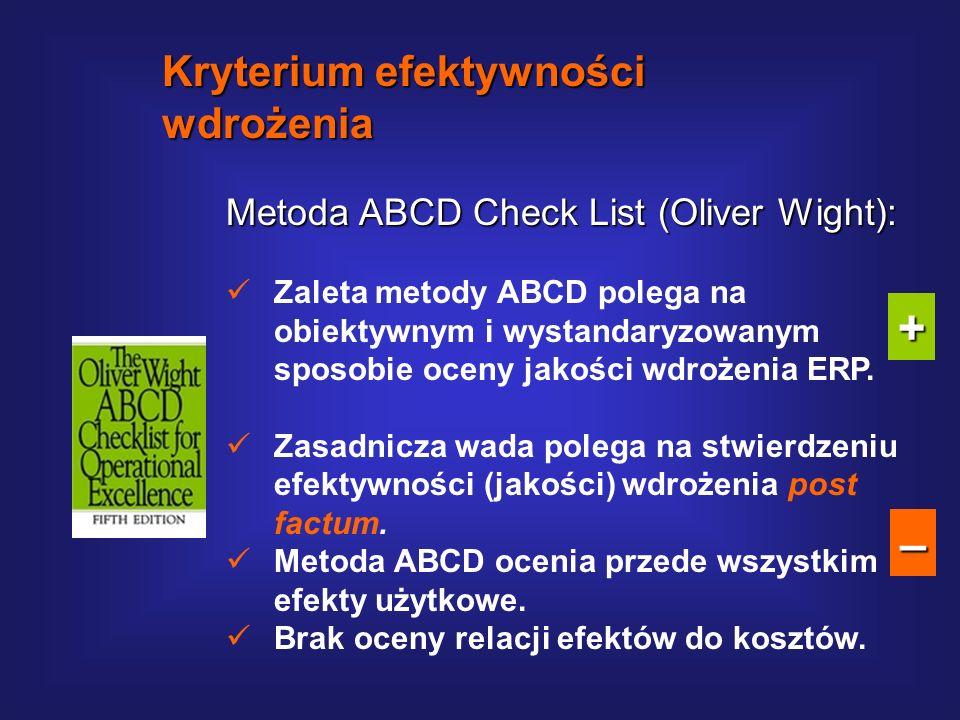+ – Kryterium efektywności wdrożenia