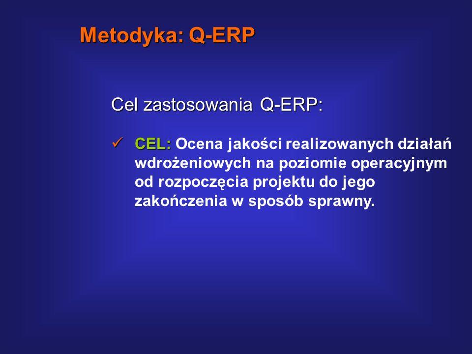 Metodyka: Q-ERP Cel zastosowania Q-ERP: