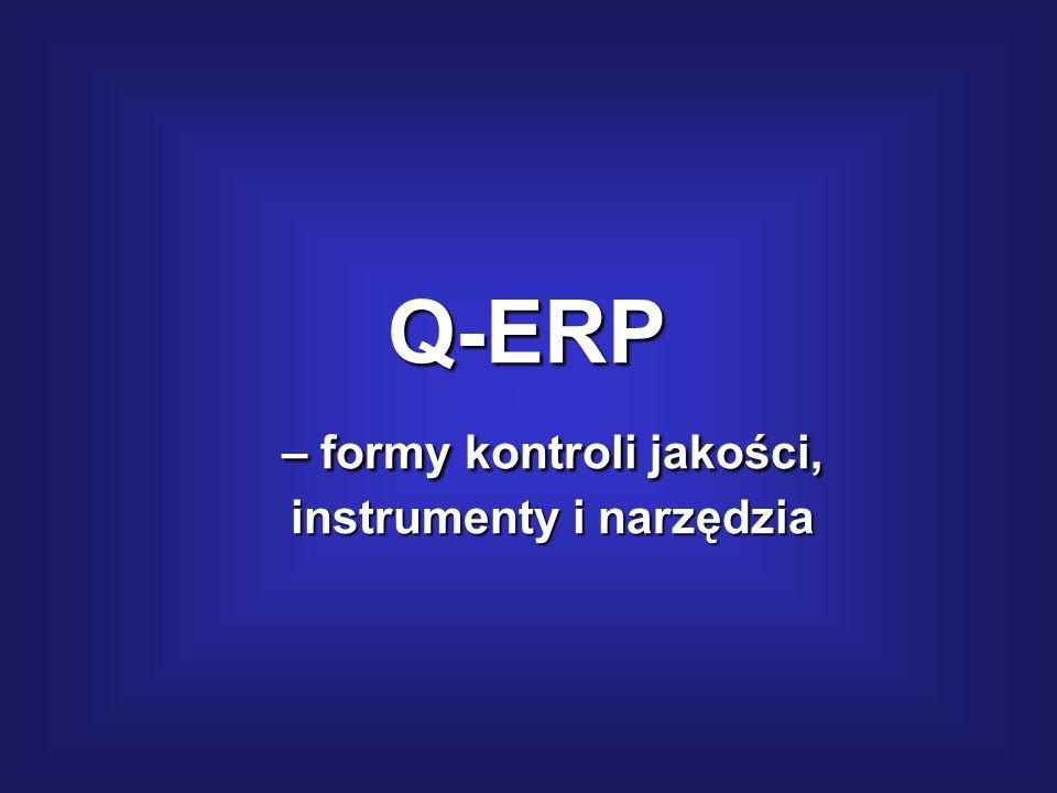 – formy kontroli jakości, instrumenty i narzędzia