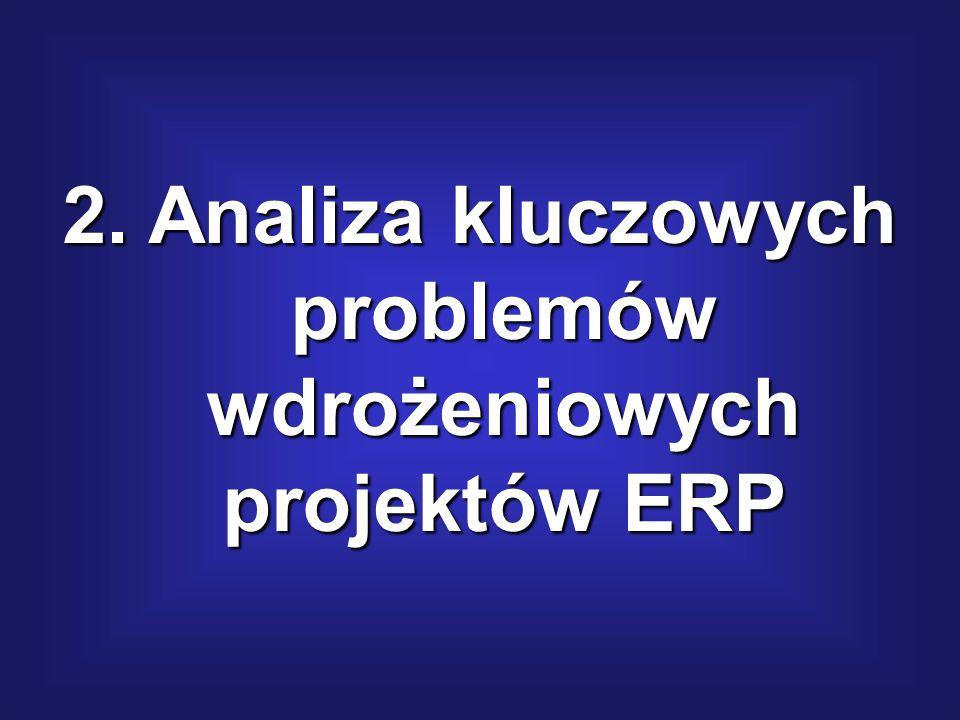 2. Analiza kluczowych problemów wdrożeniowych projektów ERP