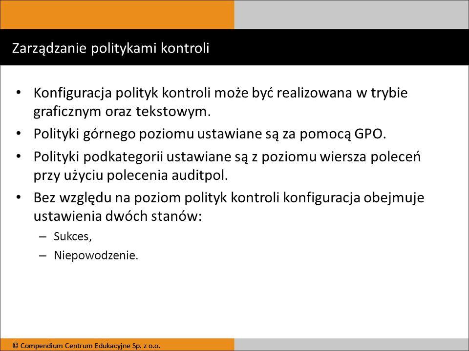 Zarządzanie politykami kontroli