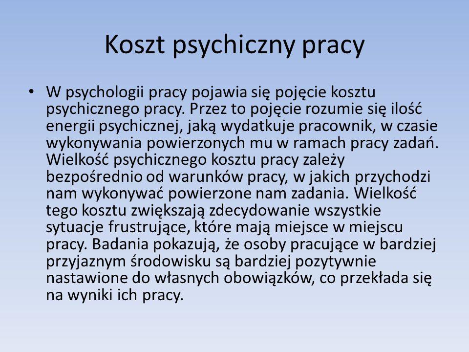 Koszt psychiczny pracy