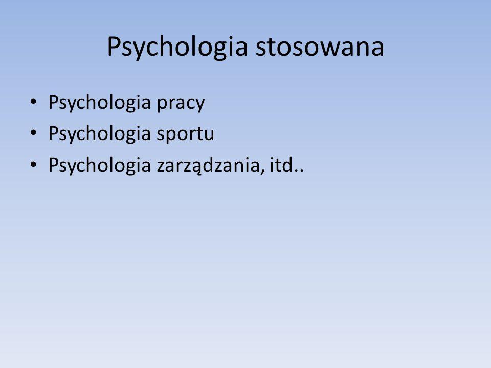 Psychologia stosowana