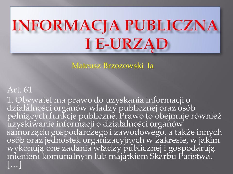 Informacja publiczna i e-urząd