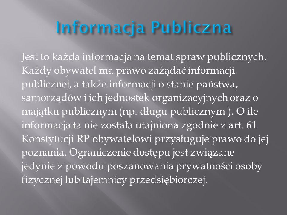 Informacja Publiczna