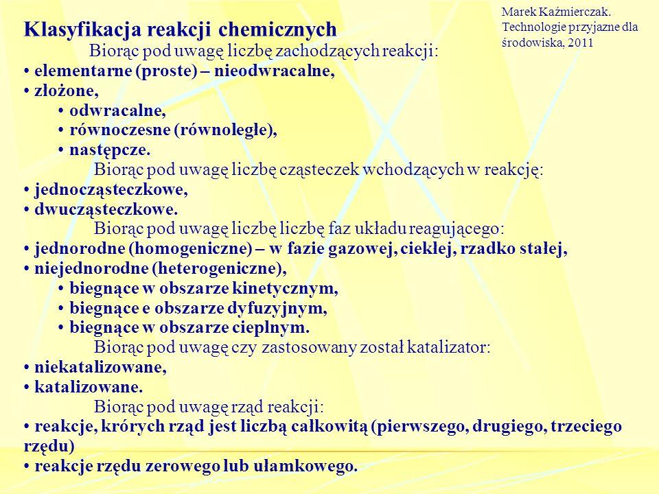Klasyfikacja reakcji chemicznych