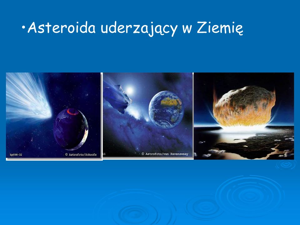 Asteroida uderzający w Ziemię