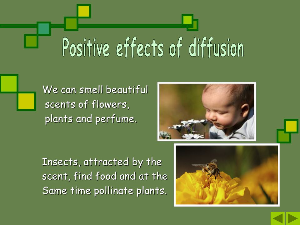 Positive effects of diffusion