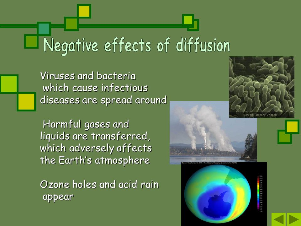Negative effects of diffusion