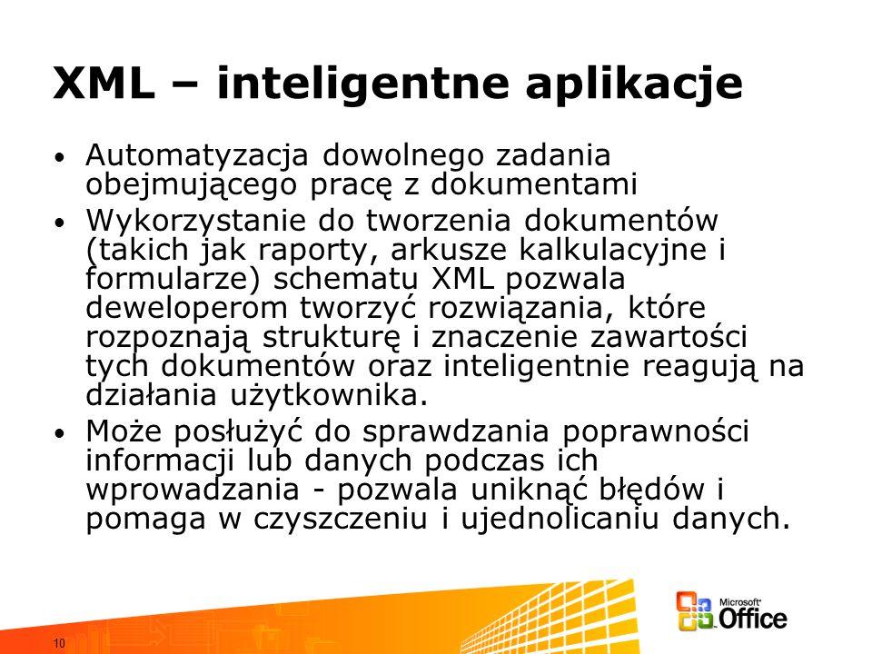 XML – inteligentne aplikacje