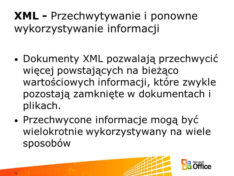 XML - Przechwytywanie i ponowne wykorzystywanie informacji