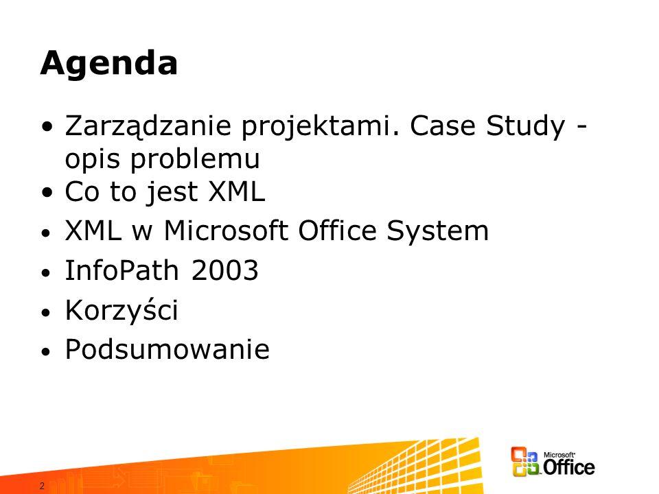 Agenda Zarządzanie projektami. Case Study - opis problemu
