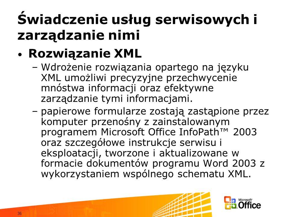 Świadczenie usług serwisowych i zarządzanie nimi
