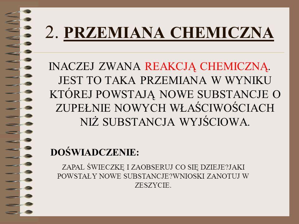 2. PRZEMIANA CHEMICZNA