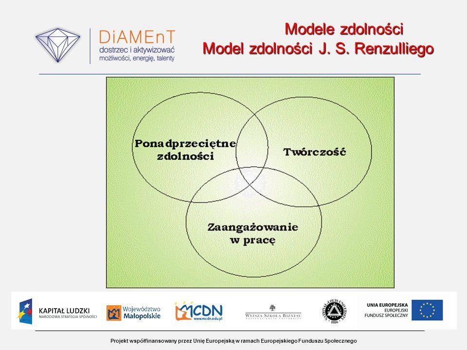 Modele zdolności Model zdolności J. S. Renzulliego