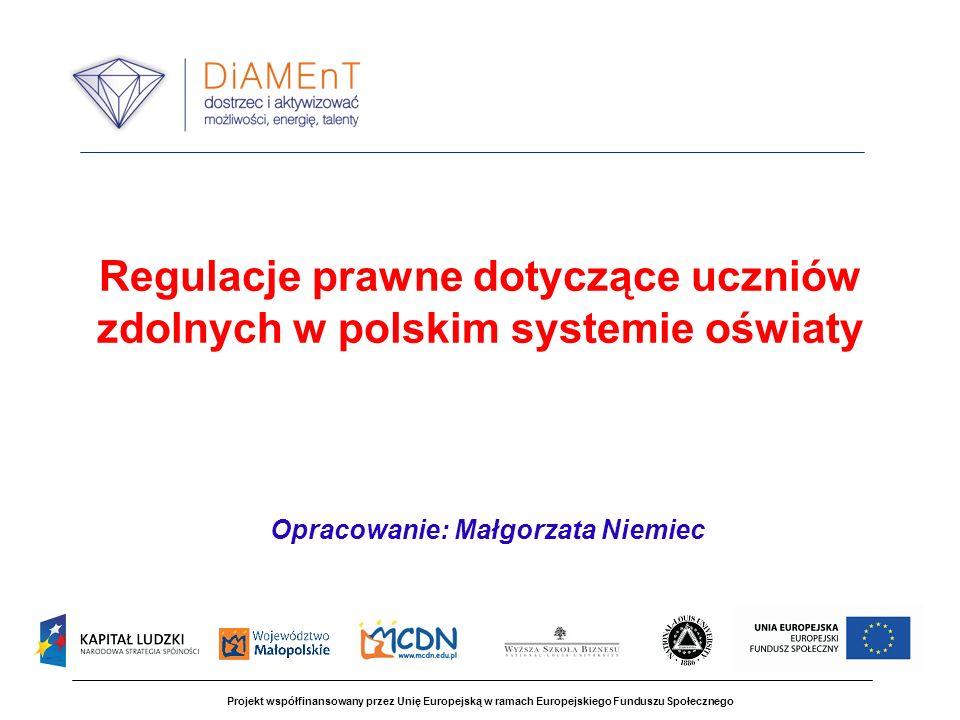 Regulacje prawne dotyczące uczniów zdolnych w polskim systemie oświaty