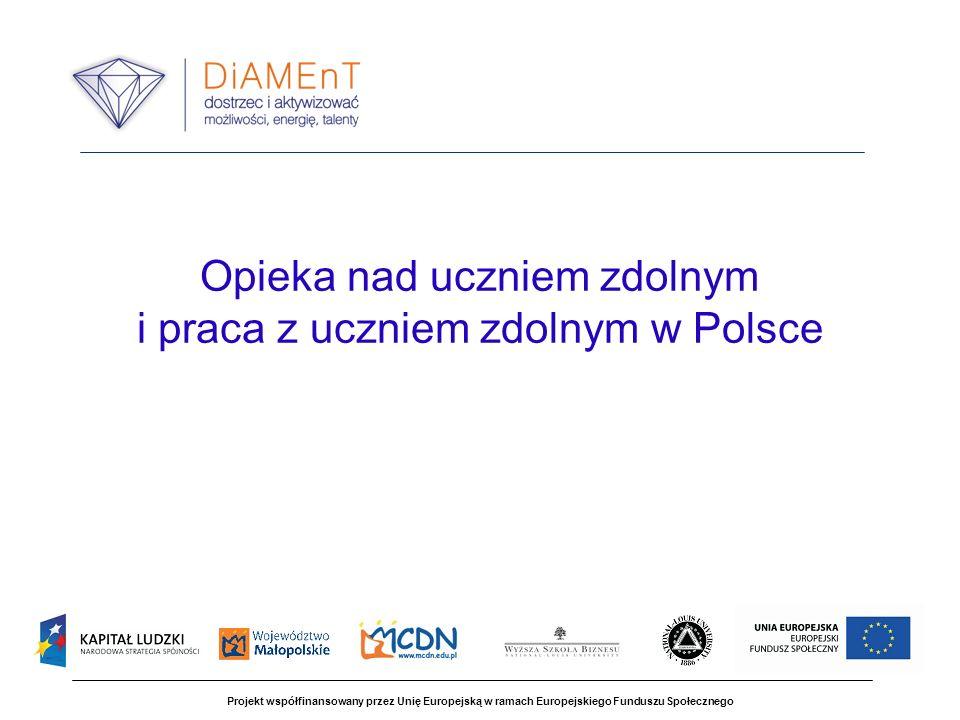 Opieka nad uczniem zdolnym i praca z uczniem zdolnym w Polsce