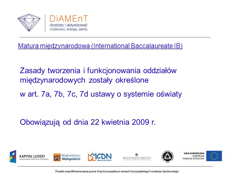 Matura międzynarodowa (International Baccalaureate IB)