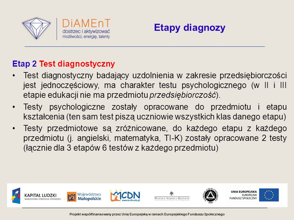 Etap 2 Test diagnostyczny