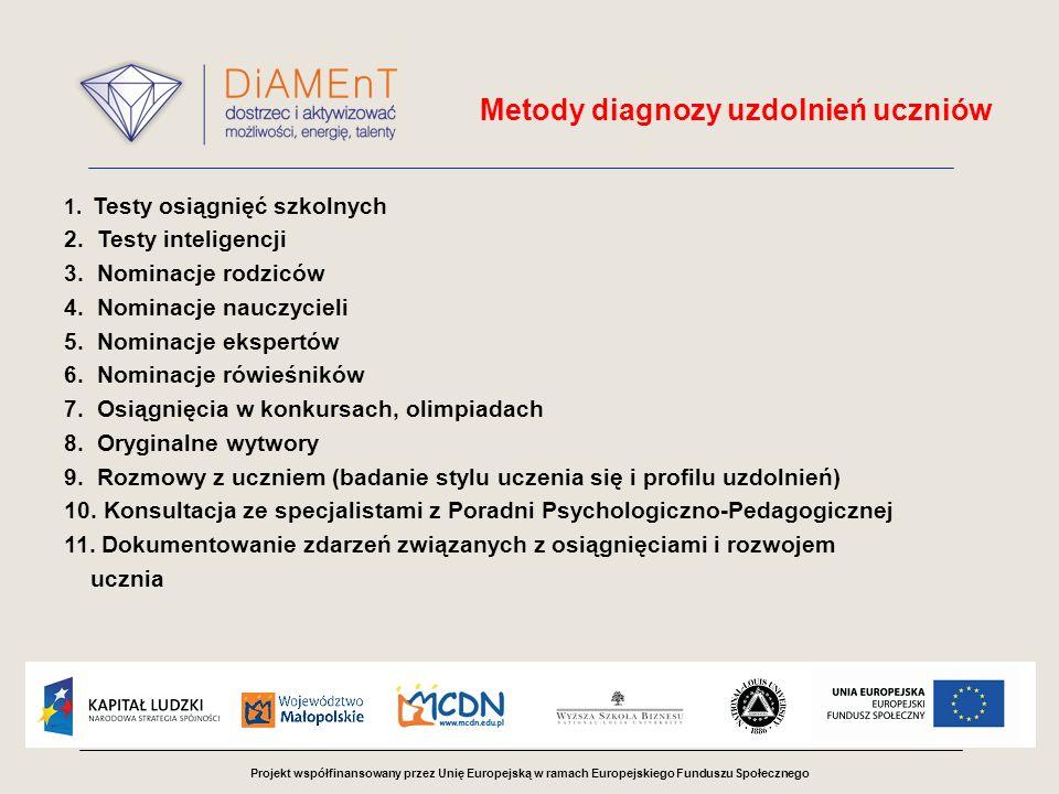 Metody diagnozy uzdolnień uczniów