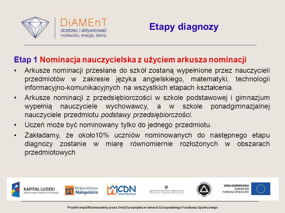 Etap 1 Nominacja nauczycielska z użyciem arkusza nominacji