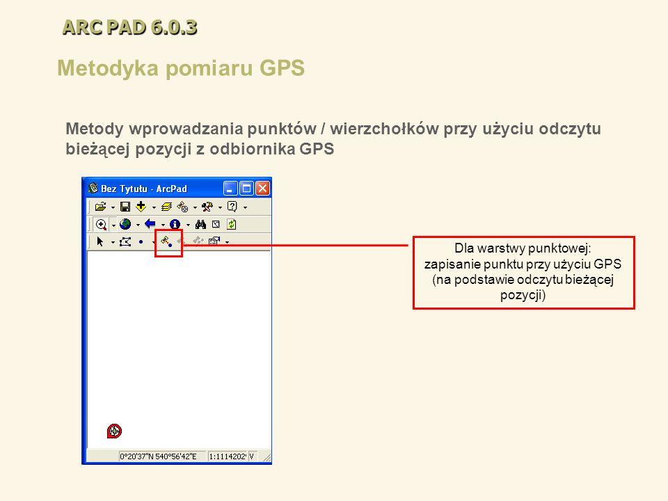 Metodyka pomiaru GPS ARC PAD 6.0.3