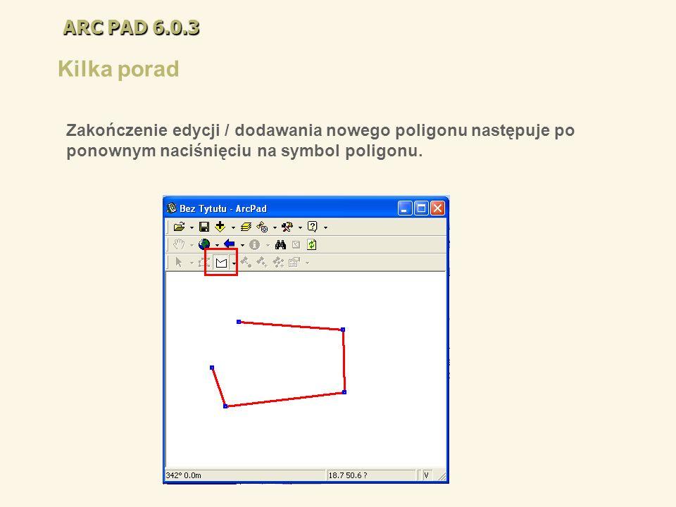 ARC PAD 6.0.3 Kilka porad.