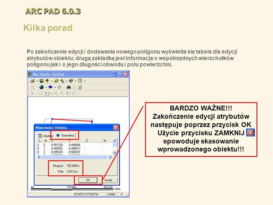 Kilka porad ARC PAD 6.0.3 BARDZO WAŻNE!!!