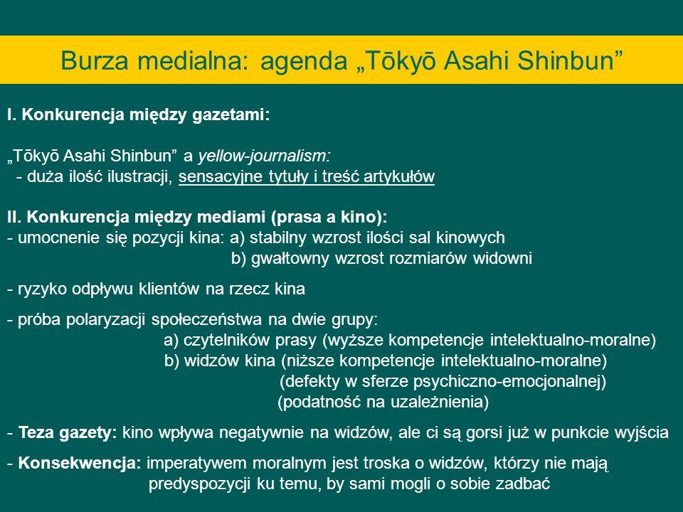 """Burza medialna: agenda """"Tōkyō Asahi Shinbun"""