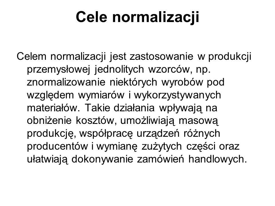 Cele normalizacji