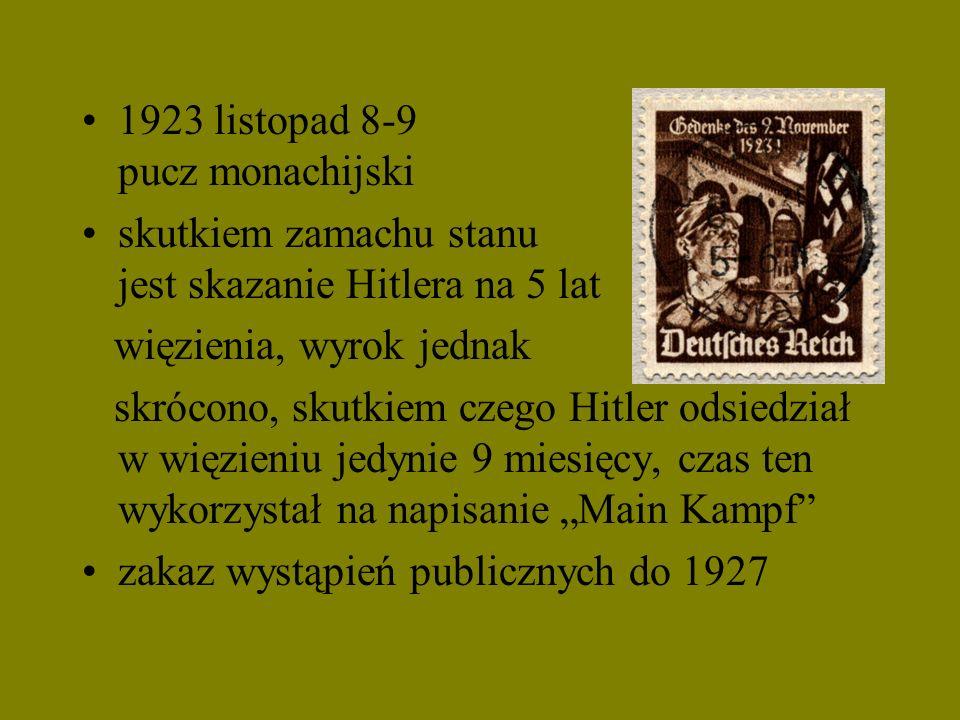 1923 listopad 8-9 pucz monachijski